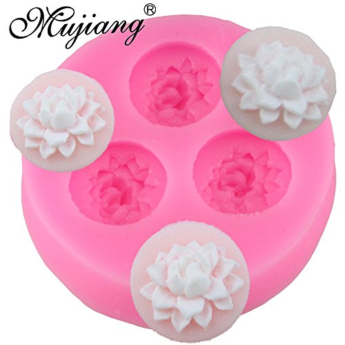 - Star Trade Inc - Lotus Flowers Cake Silicone Molds Gumpaste Chocolate Resin Clay Candy Moulds 3D Cupcake Fondant Cake Decorating Tools (1 pcs)