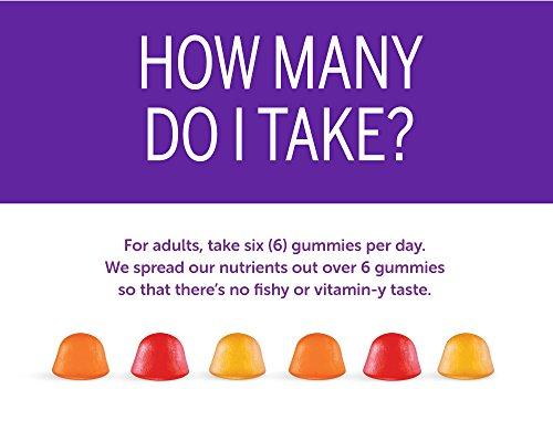 SmartyPants Adult Complete and Fiber Daily Gummy Vitamins: Multivitamin, Inulin Prebiotic Fiber & Omega 3 Fish Oil (DHA/Epa Fatty Acids), Non-GMO, 15 Count (15 Day Supply) by SmartyPants Gummy Vitamins (Image #4)