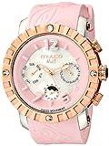 xl watch display - MULCO Unisex MW5-1876-813 Nuit Lace XL Analog Display Swiss Quartz Pink Watch