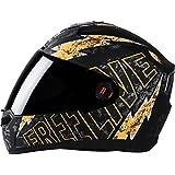 Steelbird Helmet SBA-1 Free Live with Smoke Visor and Matt Finish (Large, Black and Orange)
