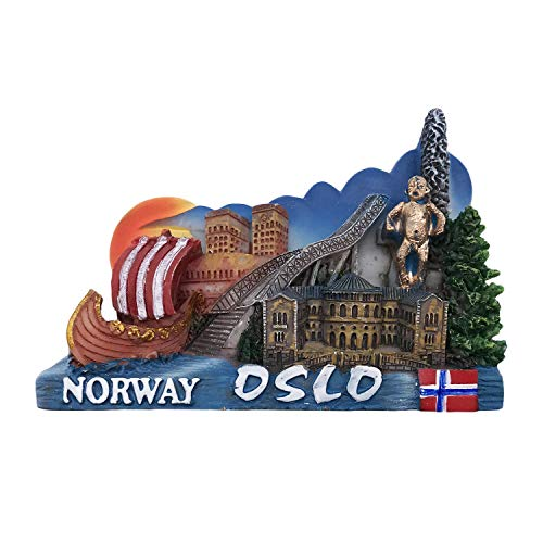 3D Oslo Norway Refrigerator Fridge Magnet Tourist Souvenirs Handmade Resin Craft Magnetic Stickers Home Kitchen Decoration Travel Gift