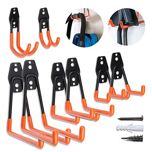 Garage Hooks Garage Hangers, Steel Utility Hooks, Easy to Install Garage Storage Hooks, Wall Hooks Heavy Duty for…