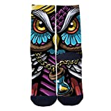 Time hourglass Socks Custom Socks Creative Socks for Men/Women Casual Cartoon Socks Black