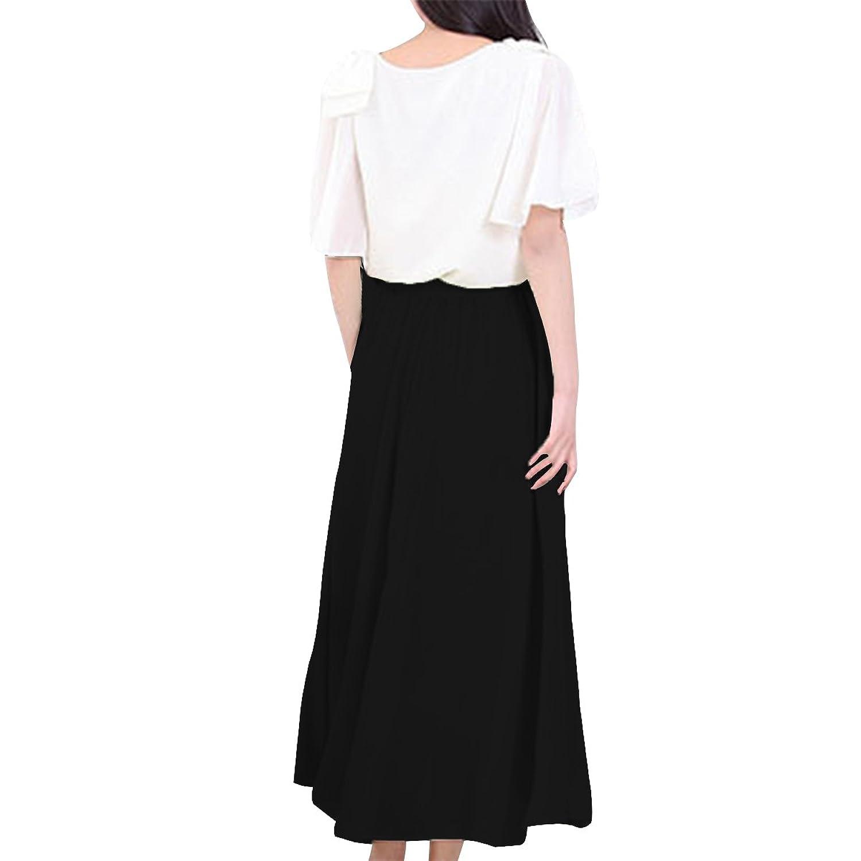 E.JAN1ST Womens Elastic Waist Skirt Retro Pleated Layered Long Chiffon Skirt at Amazon Womens Clothing store: