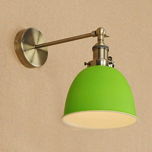 Interior Chandelier 3 Light (JYKJ LED Iron Wall Lamp,Nordic Creative Personality Simple E27 Wall Sconce Modern Living Room Staircase Aisle Bedroom Bedside Wall Industrial Wind Wall Light (Color : Green))