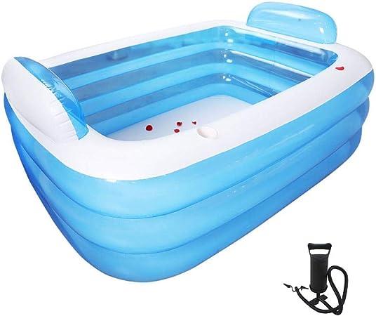 XUDREZ Piscinas para niños grandes, inflables familiares, grandes, rectangulares, para jardín familiar al aire libre, piscina para niños (6 pies, 180 x 140 x 60 cm)