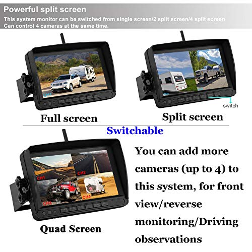 Fhd 1080p Digital Wireless Backup Camera For Rvs Trailers
