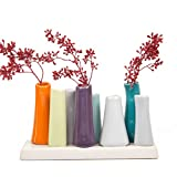 Chive Pooley 8-Tube Vase, Orange