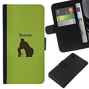 YiPhone /// Tirón de la caja Cartera de cuero con ranuras para tarjetas - Tarzn - Sony Xperia Z1 L39