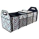 car organizations - Innostage Car Organizer Trunk for Front or Backseat with Insulated Cooler Storage-Collapsible Organizer with Compartments for Emergency Supplies ,4 portitions Car Organization