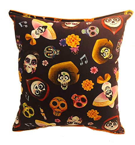 - Coco Pillow Disney Coco Pillow 10 inches by 11 inches Handmade Hypoallergenic Cotton with Flannel Backing Ideal for Gift and Multiple Uses