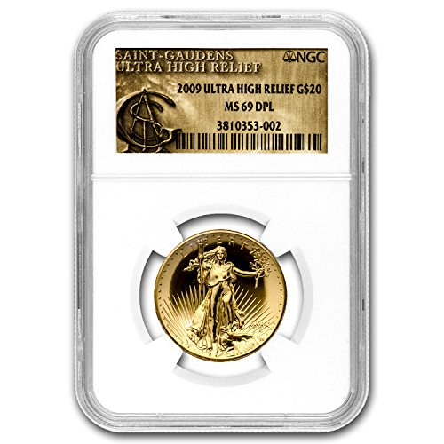 2009 Ultra High Relief Double Eagle MS-69 DPL NGC (Gold Label) 1 OZ MS-69 NGC