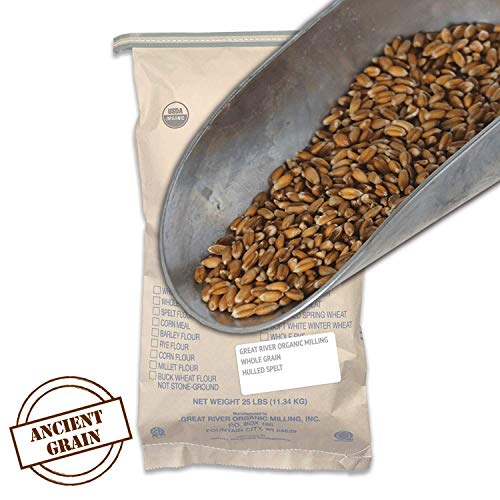 (Great River Organic Milling, Whole Grain, Hulled Spelt, Organic, 25-Pounds (Pack of 1) )