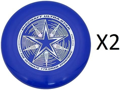 Discraft ultra-star究極Frisbee 175グラムChampionship–ロイヤル( 2- Pack )