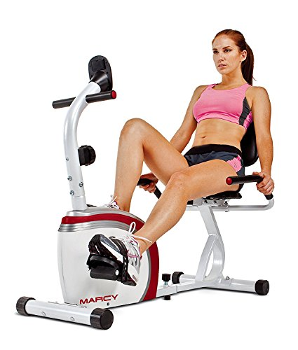 (Marcy Recumbent Exercise Bike with Magnetic Resistance and Pulse Sensor NS-908R)