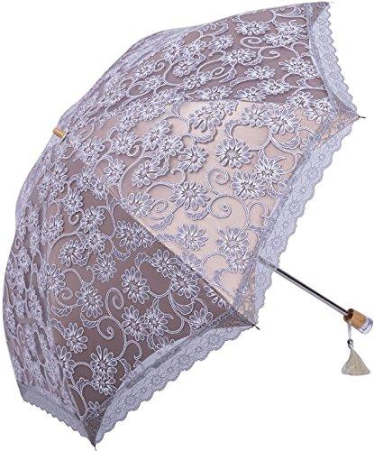 (Zero Transmittance Super Prevent Sun Index 50+ Two Folding Ladies Umbrella Thicken Lace Female Parasol Sun Shade Anti-uv)