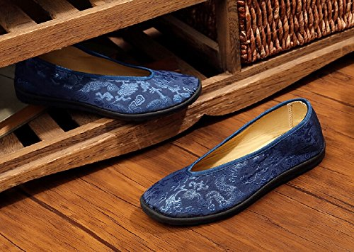 Lazutom Vintage Men Chinese Style Comfortable Flats Shoes Kungfu Taichi Shoes EU 39 6ua2v59E5i