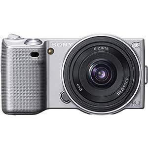 Sony Alpha NEX-5A/S Digital Camera with 16mm f/2.8 Lens (Silver) (OLD MODEL)