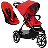 Phil&Teds Sport Buggy Stroller with Double Kit V5 - Cherry | SPORTPR-V5-19