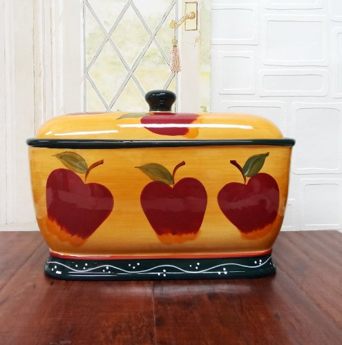 Country Apple Bread Box