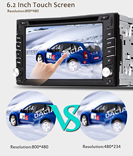 New Version ! 800MHZ CPU !!! GPS Navigation Car Radio 6.2 Inch Car DVD Player Touch Screen Stereo Bluetooth Autoradio In Dash Headunit Car Video Player by EinCar (Image #7)