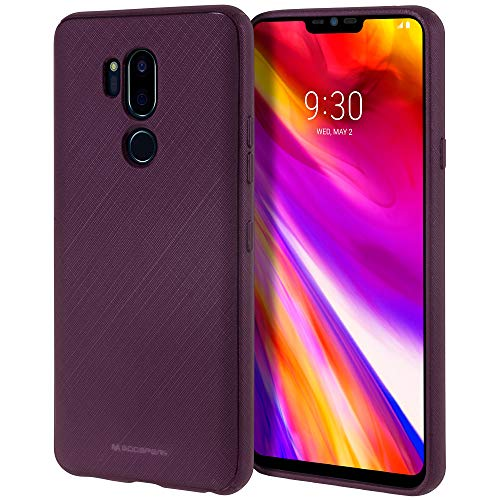 - GOOSPERY LG G7 ThinQ Case, LG G7 Case [Slim Fit] Style Lux [Flexible] Rubber Silicone TPU Case [Non Slip] Bumper Cover [Lightweight] for LG G7 ThinQ (Matte Purple) LGG7-STYL-PPL