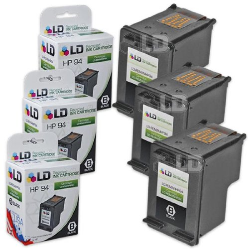 LD Remanufactured Replacement Ink Cartridge for Hewlett Packard C8765WN (HP 94) Black (3 pack) -