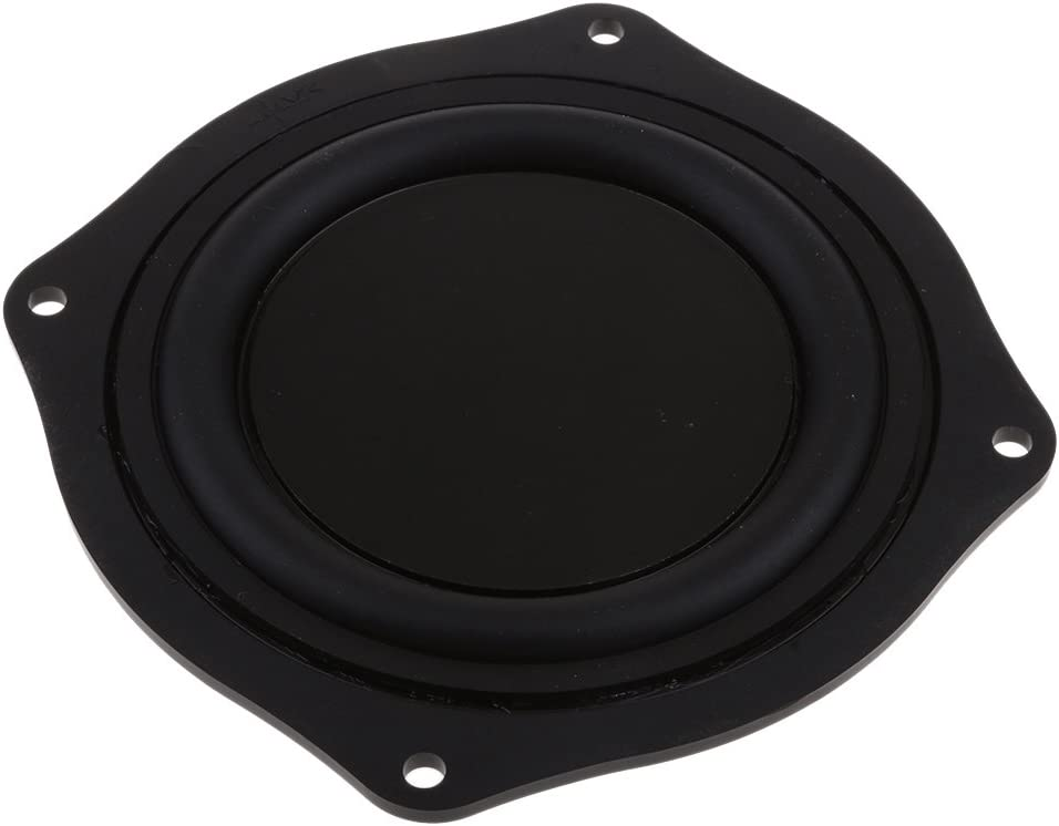 FLAMEER 3pcs 4 Zoll Bass Lautsprecher Passiv Gummi Vibrationsplatte Bass Membran Passiv Board DIY 11.4x11.4x1.3cm