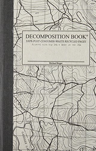 Topographical Map Pocket Sized Decomposition Book: Grid-ruled Composition Notebook With 100% Post-consumer-waste Recycled (Recycled Map)