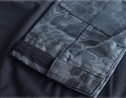 ShallGood Homme Chemises Combat Militaire Airsoft BDU Shirt Tenue Camouflage Uniforme Tactique Séchage Rapide avec… 6