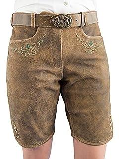 fc1c305d5f81 Damen Lederhose Kurz - Kurz Trachtenlederhose für Frauen- 5 Pocket ...