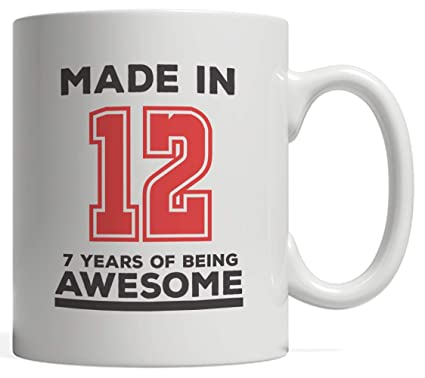 d1e825dc Made In 12 07 Years Of Awesomeness Mug - Happy 7th Birthday Being Awesome  Anniversary Gift