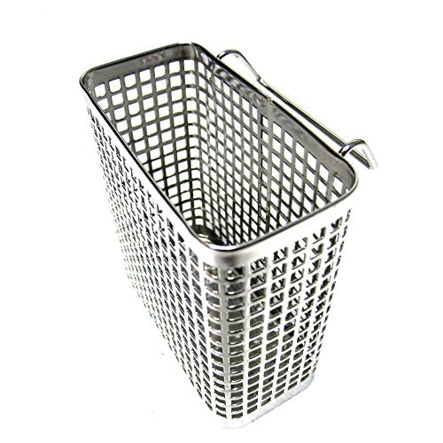 Small Square Stainless Steel Perforated Cutlery Basket Sink Rack Storage Silver (Stainless Steel Cutlery Basket)