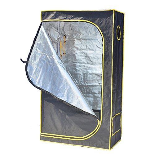 """51rqp6K8fiL - Grow Tent,Smart 35""""x 20""""x 62"""" Horticulture D-Door Reflective Mylar Hydroponics Indoor Grow Tent Non Toxic Grow Room for Early Seedling Starters 3'x6'"""
