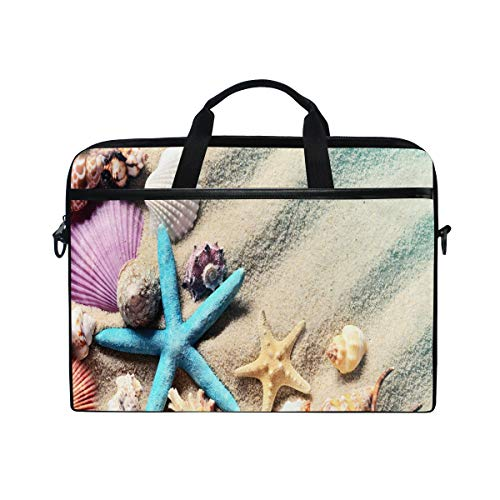 Xling Laptop Handle Bag Colorful Sand Beach Shell Starfish 14-14.5 Inch Computer Notebook Tablet Protect Tote Bag Case Sleeve Compatible Lenovo Dell HP MacBook