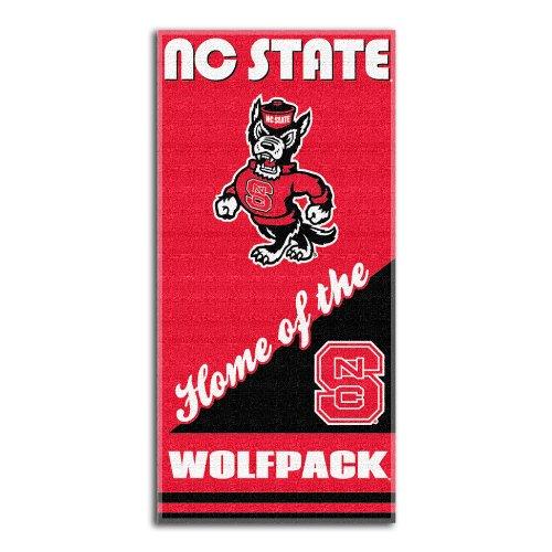 NCAA North Carolina State Wolfpack Home Beach Towel, 28 x 58-Inch (Nc State Football)