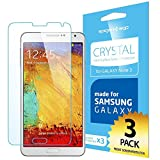 SPIGEN Samsung Galaxy Note 3 Screen Protector Clear [Crystal][3-PACK]Value Pack Premium Front Screen Protector for Galaxy Note III - Clear