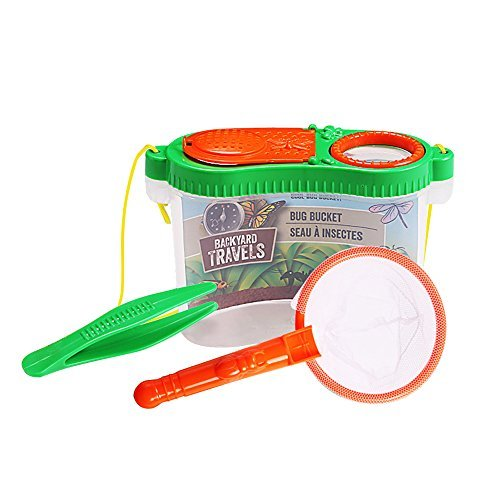 Kids Backyard Bug Catchers Exploration Science and Viewer Microscope, Insect Magnifier, Living Adventure Insert Case With Catching Tools for Little Critters for fun( Random Color)]()