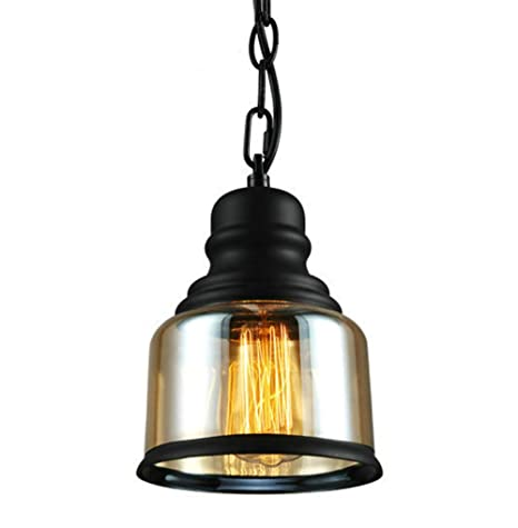 Industrial Pendant Light Classic Mason Jar Hemp Rope Chain Hanging ...