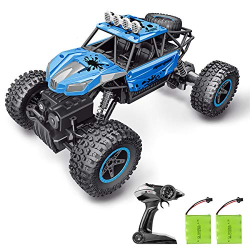 RC Car, SHARKOOL 2019 Newest 2.4Ghz 4WD 1/16 Scale RC Trucks Rc Crawlers Remote Control Car with Two Rechargeable Batteries, Off Road Vehicle for Kids & Adults