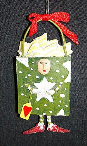 Department 56 Krinkles Green Star Bag Boy Mini Christmas Ornament #37878