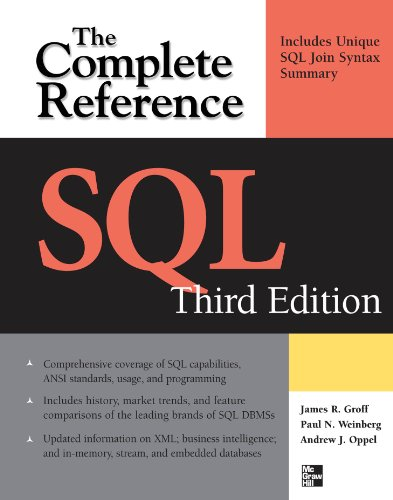 SQL The Complete Reference, 3rd Edition Kindle Editon