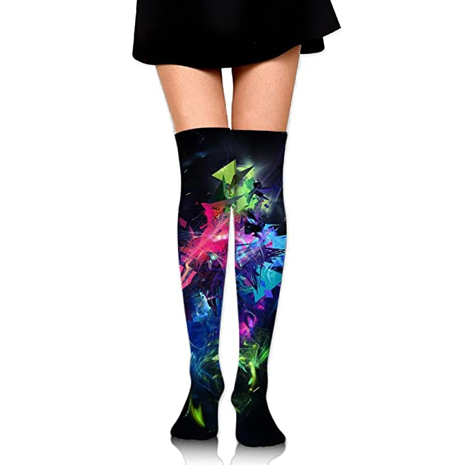abfd4071dd71a Amazon.com: Cool Color Liquid Splash Over The Knee Long Socks Tube Thigh- High Sock Stockings For Girls & Womens: Clothing