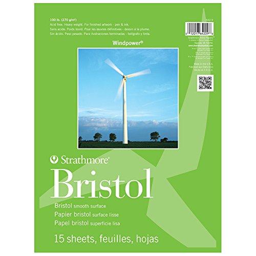 strathmore-windpower-tape-bound-bristol-pad-11-x-14-smooth-surface-15-sheet