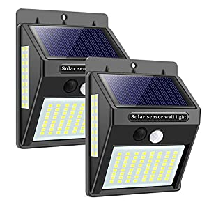 Upgraded Solar Lights Outdoor 100 LED Motion Sensor Security Wall Lights Waterproof Security Lights 300° Super Bright…