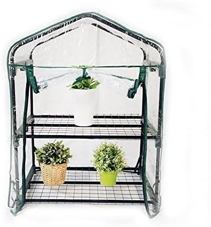 Interouge Mini Serre De Jardin Botanique Serre De Balcon Avec Bache Transparente En Pvc Impermeable 2 Tablettes 69x49x95cm Amazon Fr Cuisine Maison