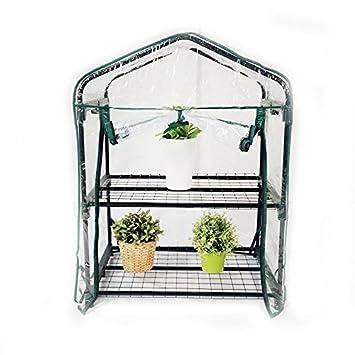 INTEROUGE Mini Serre de Jardin Botanique Serre de balcon avec bâche ...