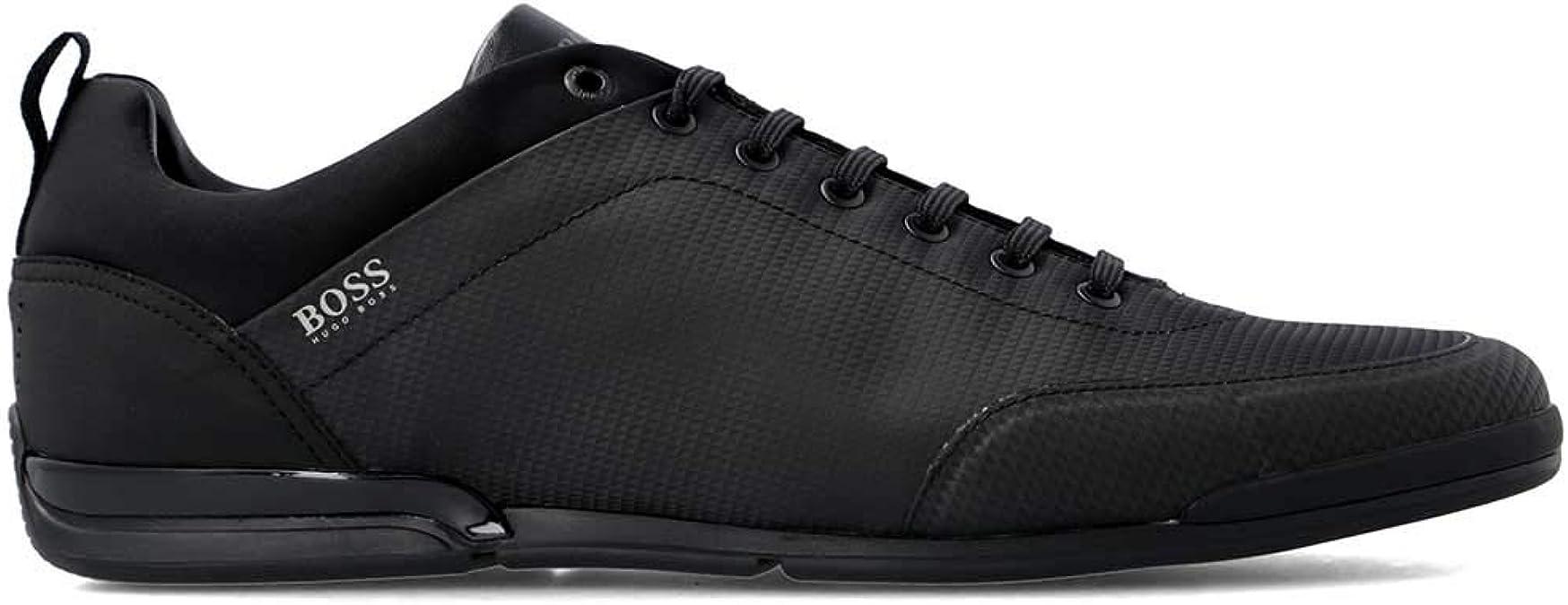 Hugo Boss Mens Fashion Sneakers Saturn Lowp nyth Black 50408051 001
