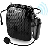 ZOWEETEK Voice Amplifier with UHF Wireless Microphone Headset, 10W 1800mAh Portable Rechargeable PA system Speaker for Multiple Locations such as Classroom, Meetings, Promotions and Outdoors
