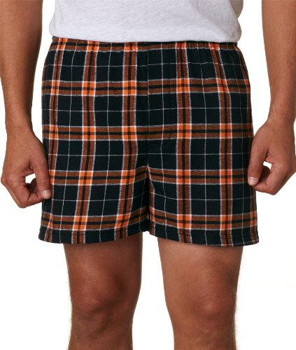 Boxercraft Adult Classic Flannel Boxers - Orange/Black - S